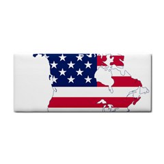 Flag Map Of Canada And United States (american Flag) Cosmetic Storage Cases