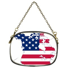 Flag Map Of Canada And United States (american Flag) Chain Purses (two Sides)