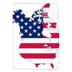 Flag Map Of Canada And United States (american Flag) Flap Covers (l)  by goodart