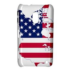 Flag Map Of Canada And United States (american Flag) Nokia Lumia 620