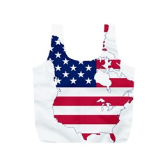 Flag Map Of Canada And United States (american Flag) Full Print Recycle Bags (s)
