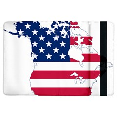 Flag Map Of Canada And United States (american Flag) Ipad Air Flip by goodart