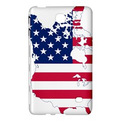 Flag Map Of Canada And United States (american Flag) Samsung Galaxy Tab 4 (8 ) Hardshell Case