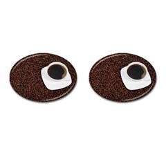 Coffee Cufflinks (oval)