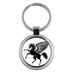 Peo Pegasus Black  Key Chains (round)