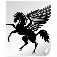 Peo Pegasus Black  Canvas 11  X 14