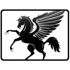 Peo Pegasus Black  Fleece Blanket (large)