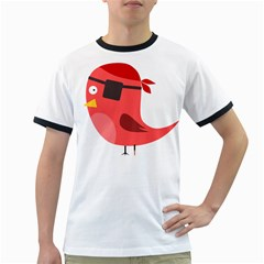 Pirate Bird Vector Clipart Ringer T Shirts