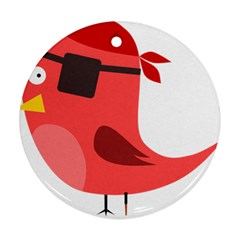 Pirate Bird Vector Clipart Round Ornament (two Sides)