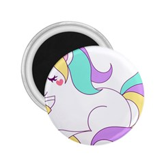 Pastel Unicorn Vector Clipart 2 25  Magnets by goodart