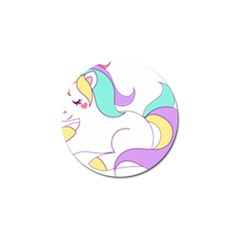 Pastel Unicorn Vector Clipart Golf Ball Marker (10 Pack)