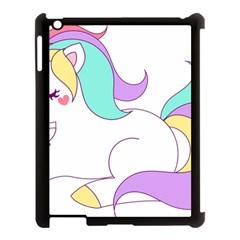 Pastel Unicorn Vector Clipart Apple Ipad 3/4 Case (black)