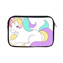 Pastel Unicorn Vector Clipart Apple Ipad Mini Zipper Cases by goodart