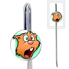 Surprised Chipmunk Face Vector Art Book Mark