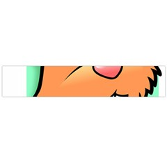 Surprised Chipmunk Face Vector Art Large Flano Scarf