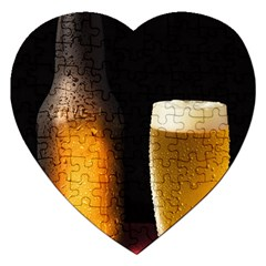 Cold Beer Jigsaw Puzzle (heart)