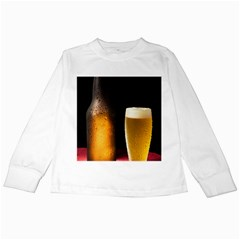 Cold Beer Kids Long Sleeve T Shirts