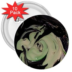Magnolia 3  Buttons (10 Pack)