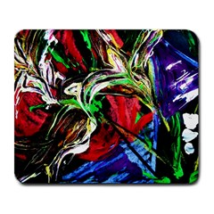 Lillies In Terracota Vase Large Mousepads