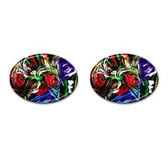 Lillies In Terracota Vase Cufflinks (oval)