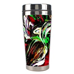Lillies In Terracota Vase Stainless Steel Travel Tumblers