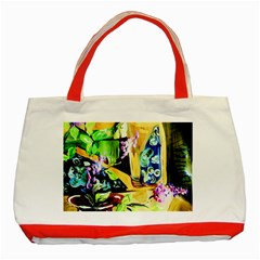 Lilac On A Countertop Classic Tote Bag (red)