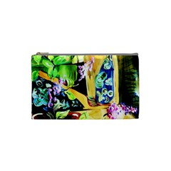 Lilac On A Countertop Cosmetic Bag (small)