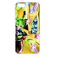 Lilac On A Countertop Apple Iphone 5 Seamless Case (white) by bestdesignintheworld