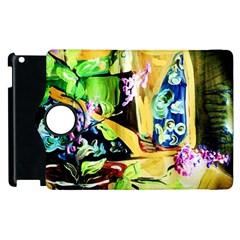 Lilac On A Countertop Apple Ipad 2 Flip 360 Case