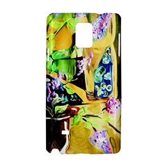 Lilac On A Countertop Samsung Galaxy Note 4 Hardshell Case by bestdesignintheworld