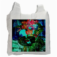 Flowers On The Tea Table Recycle Bag (one Side) by bestdesignintheworld
