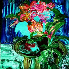 Flowers On The Tea Table Magic Photo Cubes by bestdesignintheworld