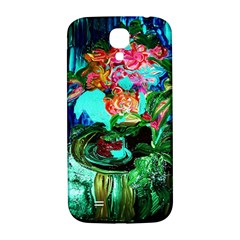 Flowers On The Tea Table Samsung Galaxy S4 I9500/i9505  Hardshell Back Case