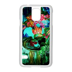 Flowers On The Tea Table Samsung Galaxy S5 Case (white)