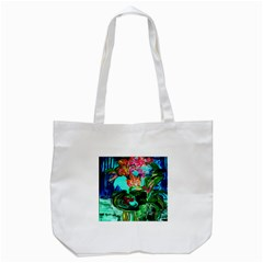 Flowers On The Tea Table Tote Bag (white)