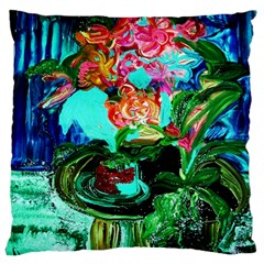 Flowers On The Tea Table Standard Flano Cushion Case (two Sides)