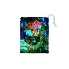 Flowers On The Tea Table Drawstring Pouches (xs)
