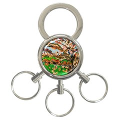 Coral Tree 3 Ring Key Chains