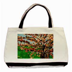Coral Tree Basic Tote Bag (two Sides) by bestdesignintheworld