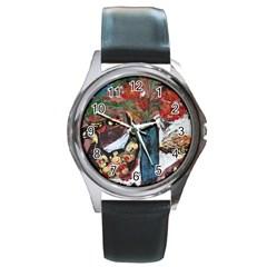 Chochloma Round Metal Watch by bestdesignintheworld