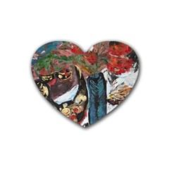 Chochloma Rubber Coaster (heart)