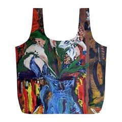 Buckeut In A Blue Jur Full Print Recycle Bags (l)  by bestdesignintheworld