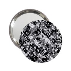 Black And White Patchwork Pattern 2 25  Handbag Mirrors