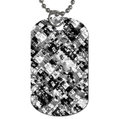 Black And White Patchwork Pattern Dog Tag (two Sides)