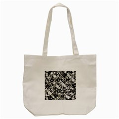 Black And White Patchwork Pattern Tote Bag (cream)