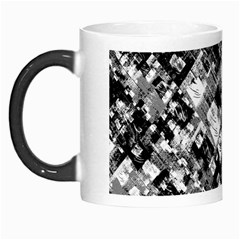 Black And White Patchwork Pattern Morph Mugs