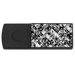 Black And White Patchwork Pattern Rectangular Usb Flash Drive