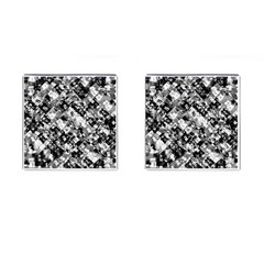 Black And White Patchwork Pattern Cufflinks (square)