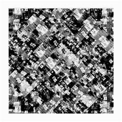 Black And White Patchwork Pattern Medium Glasses Cloth