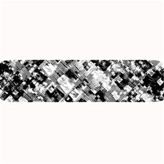 Black And White Patchwork Pattern Large Bar Mats